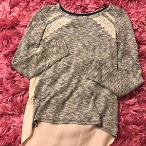Long sleeve sparkly blouse // XS // worn Twice